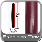 "2"" Wide Red (Dark) Molding Trim (PT65) Sold by the Foot Precision Trim® #1490-65-01"