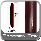 "2"" Wide Red (Dark) Molding Trim (PT72) Sold by the Foot Precision Trim® #1490-72-01"