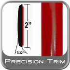 "2"" Wide Red Molding Trim (PT61) Sold by the Foot Precision Trim® #1490-61-01"