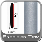 "2"" Wide Silver Molding Trim (PT22) Sold by the Foot Precision Trim® #1490-22-01"