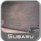 "Subaru Legacy Carpeted Floor Mats 2000-2002 Outback Gray w/""Outback"" Logo 4-piece Set Genuine Subaru #J5010LS100OC"
