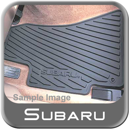 2000-2006 Subaru Rubber Floor Mats All-Weather Black 4-piece Set Genuine Subaru #J5010LS300