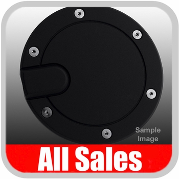 2000-2005 Ford Excursion Fuel Door Non-Locking Style Billet Aluminum, Black Finish Sold Individually All Sales #6050K