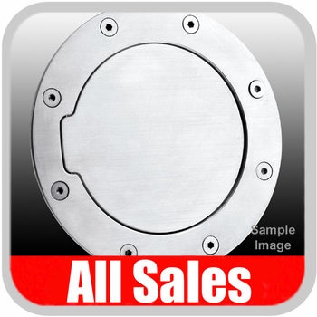 2000-2005 Ford Excursion Fuel Door Non-Locking Style Billet Aluminum, Brushed Aluminum Finish Sold Individually All Sales #6050
