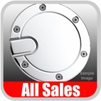 2000-2005 Ford Excursion Fuel Door Non-Locking Style Billet Aluminum, Chrome Finish Sold Individually All Sales #6050C