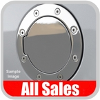 2001-2002 Chevy Avalanche Fuel Door Non-Locking Style Billet Aluminum, Chrome Finish Sold Individually All Sales #6091C