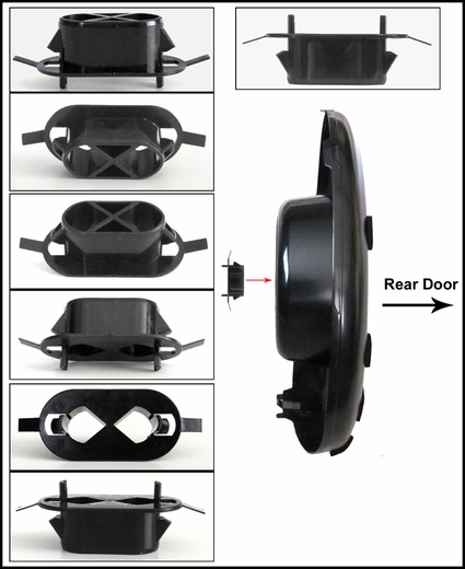 new 2001 2005 toyota rav4 spare tire cover mount. Black Bedroom Furniture Sets. Home Design Ideas
