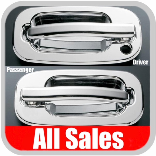 2002-2006 Cadillac Escalade Door Handle Levers & Buckets Driver & Passenger Sides w/Driver Side Lock Hole Only Chrome Finish All Sales #901C