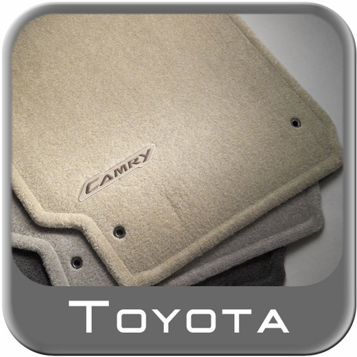 Toyota Camry Carpeted Floor Mats 2002 2006 Taupe Light Tan 4 Piece