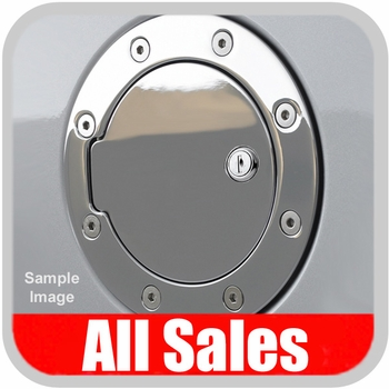 2002-2009 Dodge Ram Truck Fuel Door Locking Style Billet Aluminum, Chrome Finish Sold Individually All Sales #6041CL