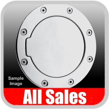 2002-2009 Dodge Ram Truck Fuel Door Non-Locking Style Billet Aluminum, Polished Aluminum Finish Sold Individually All Sales #6041P