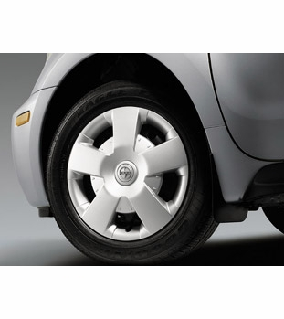 "Scion xA Wheel Cover 2003-2005 ""5-Spoke"" Style Silver Alloy Look Sold Individually (1 cover) Sold Individually Genuine Toyota #08402-52815"