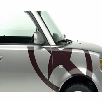 Scion xB Body Graphics 2003-2005 Scion Logo Passenger's Side Brown Sold Individually Genuine Scion #PT211-52R42-04