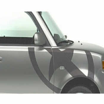 Scion xB Body Graphics 2003-2005 Scion Logo Passenger's Side Gray Sold Individually Genuine Scion #PT211-52R42-01