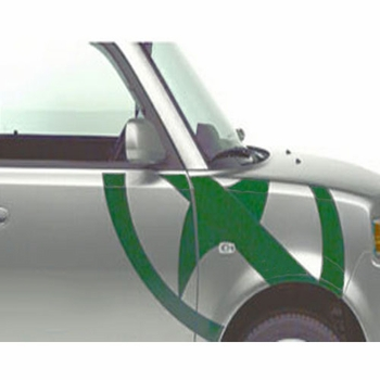 Scion xB Body Graphics 2003-2005 Scion Logo Passenger's Side Green Sold Individually Genuine Scion #PT211-52R42-06