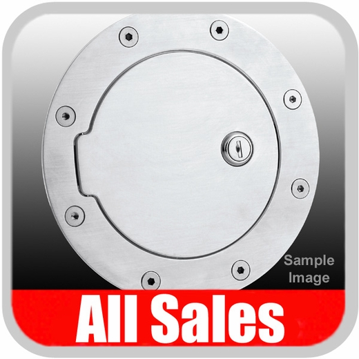 2003-2006 Chevy SSR Fuel Door Locking Style Billet Aluminum, Brushed Aluminum Finish Sold Individually All Sales #6095L