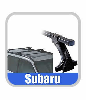 2003-2008 Subaru Forester Roof Rack Crossbar Set Thule Crossbars (Square, with Lock) Style Front and Rear Bars Genuine Subaru #E361ESA100