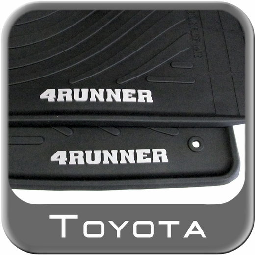 Toyota 4Runner Floor Mats 2003-2009 Rubber, All-Weather Black 4-Piece Set Genuine Toyota #PT908-89090-20