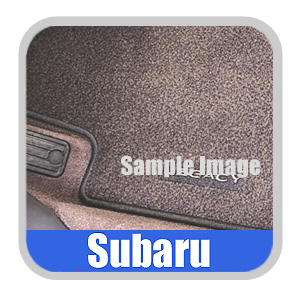 "2004-2005 Subaru Forester XT||XT Premium Carpeted Floor Mats Gray w/""Forester"" Logo 4-piece Set Genuine Subaru #J5010SSA200"
