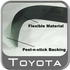 2004-2006 Toyota Tundra Door Sill Protectors Black ABS Plastic w/ Tundra Logo, Double Cab 4 Piece Set Genuine Toyota #PT747-34040
