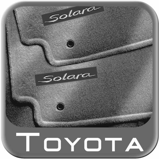 2004 2008 toyota solara carpeted floor mats dark stone except convertible. Black Bedroom Furniture Sets. Home Design Ideas