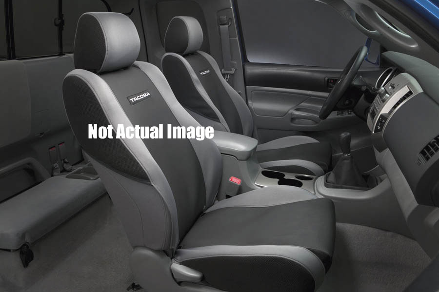 Tacoma Seat Covers >> Toyota Tacoma Seat Covers 2005 2008 For Sport Seats Gray W Black And Trd Logo Set Of 2 Genuine Toyota Pt218 35052 01