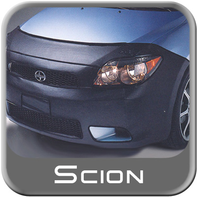 Scion tC Car Bra 2005-2010 Full 2-piece Mask Black Vinyl Genuine Toyota #PT218-21050