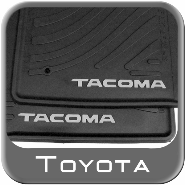 2005 2011 toyota tacoma floor mats rubber all weather 4. Black Bedroom Furniture Sets. Home Design Ideas