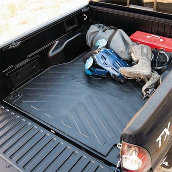 Toyota Tacoma Bed Mat 2005 2017 Black Rubber Made By Genuine Pt580
