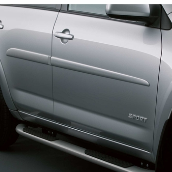 Toyota RAV4 Body Side Moldings 2006-2012 Classic Silver Metallic (color code 1F7) Set of 4 Genuine Toyota #PT29A-42060-01