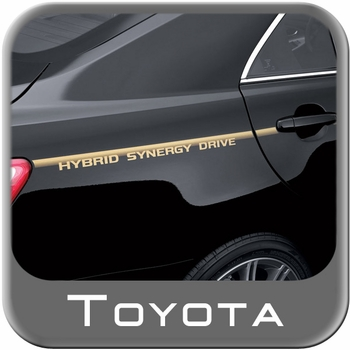 Toyota camry hybrid body graphics 2007 2011 toyota synergy drive gold on clear