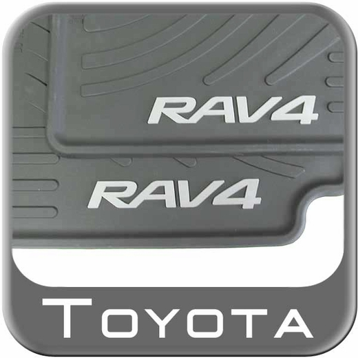 Toyota RAV4 Rubber Floor Mats 2007-2014 All-Weather Black 4-Piece Set Genuine Toyota #PT908-42110-20