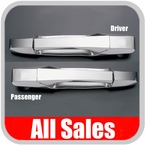 2007-2012 Cadillac Escalade Door Handle Levers & Buckets Driver & Passenger Sides w/No Lock Holes Polished Aluminum 4-Pieces All Sales #942