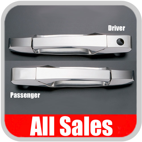 2007-2012 GMC Truck Door Handle Levers & Buckets Driver & Passenger Sides w/Driver Side Lock Hole Only Chrome Finish 4-Pieces All Sales #941C