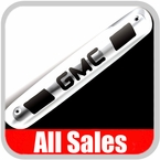 2007-2012 GMC Truck Third Brake Light Cover Polished Aluminum Finish w/ GMC Cutout Sold Individually All Sales #98005P