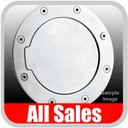 2007-2012 Jeep Wrangler Fuel Door Non-Locking Style Billet Aluminum, Brushed Aluminum Finish Sold Individually All Sales #6032