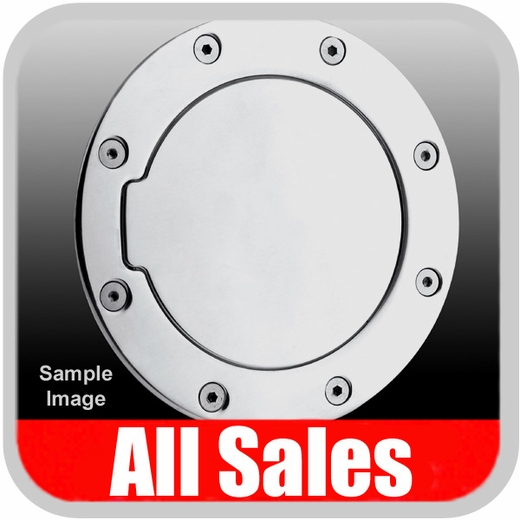 2007-2012 Jeep Wrangler Fuel Door Non-Locking Style Billet Aluminum, Polished Aluminum Finish Sold Individually All Sales #6032P