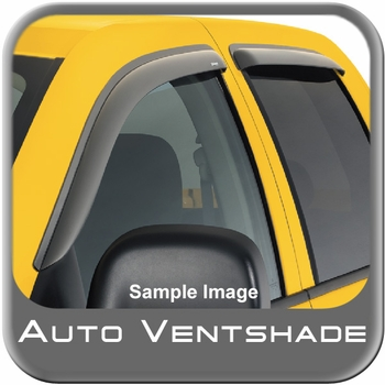 Chevy Silverado Truck Rain Guards / Wind Deflectors 2007-2014 Ventvisor Dark Smoke Acrylic 4-piece Set Auto Ventshade AVS #94040