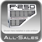 2008-2010 Ford F250 Truck Side Vents Grille Style Inserts Polished Alumuinum & Black Set of 2 All Sales #5102P
