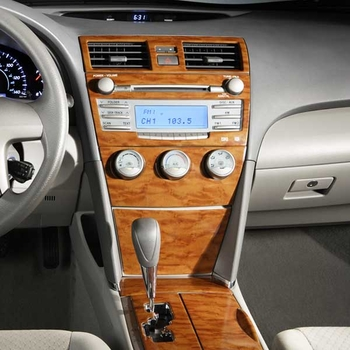 Toyota Camry Wood Dash Kit 2008 2010 XLE Simulated Wood Grain 4 Pc Kit