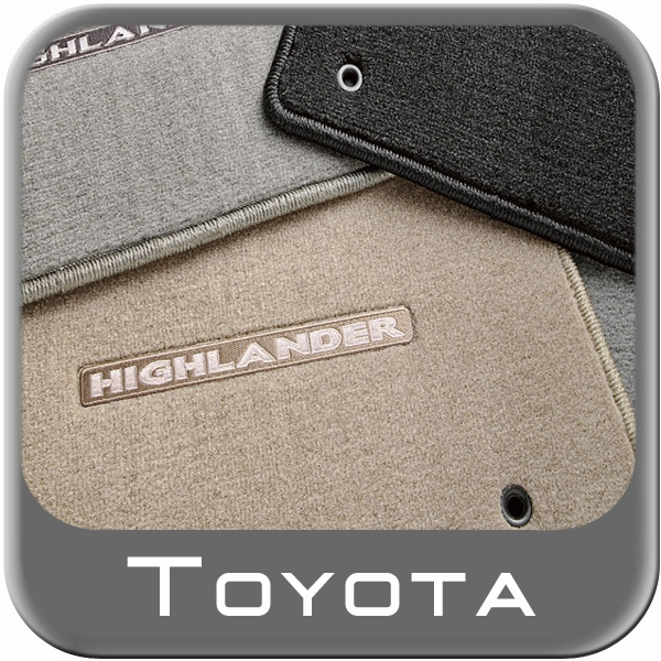 2008 2011 toyota highlander carpeted floor mats sand beige for Original toyota floor mats