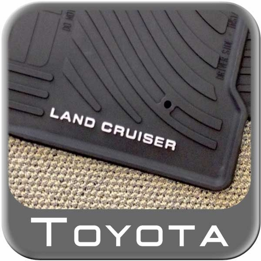 Toyota Land Cruiser Rubber Floor Mats 2008-2011 All-Weather Black 4-Piece Set Genuine Toyota #PT908-60110-20