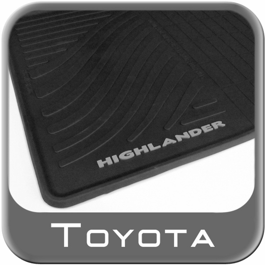 Toyota Highlander Rubber Floor Mats 2008-2013 Hybrid All-Weather Black 4-Piece Set Genuine Toyota #PT908-48H00-02