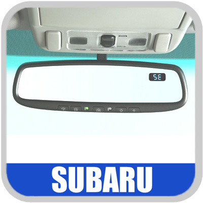2008-2014 Subaru Auto Dimming Mirror Rear View Mirror w/Compass & Homelink Genuine Subaru #H501SXA201