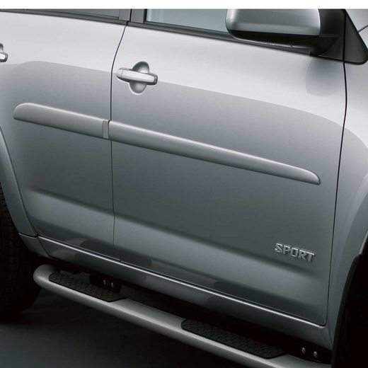 Toyota RAV4 Body Side Moldings 2009-2012 Magnetic Gray Metallic (color code 1G3) Set of 4 Genuine Toyota #PT29A-42090-21