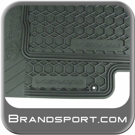 2009 2012 toyota venza rubber floor mats all weather black. Black Bedroom Furniture Sets. Home Design Ideas