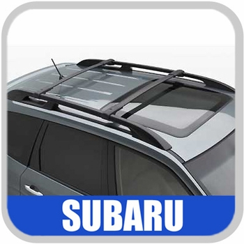 2009-2013 Subaru Forester Roof Rack Crossbar Set OEM Aero Crossbars (Wedge) Style for vehicles with side rails Front and Rear Bars Genuine Subaru #E361SSC300