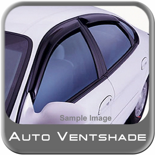Toyota Matrix Rain Guards / Wind Deflectors 2009-2013 Ventvisor Dark Smoke Acrylic 4-piece Set Auto Ventshade AVS #94093