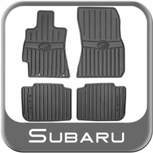 2010-2014 Subaru Legacy Rubber Floor Mats All-Weather Black 4-piece Set Genuine Subaru #J501SAJ000