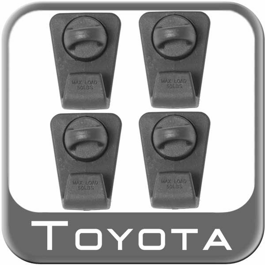 Toyota 4Runner Roof Rack Mini Tie Downs 2010-2014 Set of 4 Genuine Toyota #PT278-89100-TD